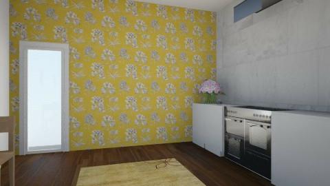floral kitchen - Kitchen - by jria8
