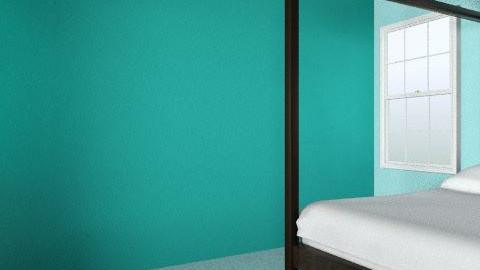 Blue Bedroom - Retro - Bedroom - by AliceJayeSykes