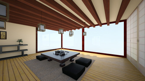 Japan - Minimal - Living room  - by Larise