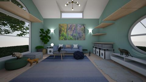 cat shack - Modern - Living room  - by kat1016