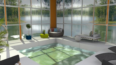 Orange Indoor Pool - Modern - Garden  - by idesine