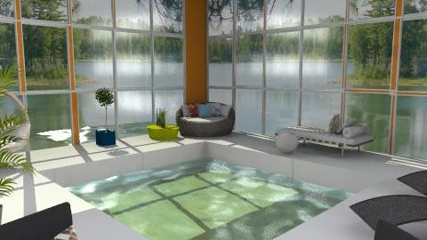 Orange Indoor Pool - Modern - Garden  - by idesine