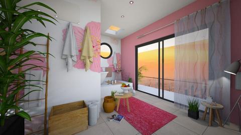 Cherry Blossom Bathroom - Bathroom  - by housedec2814