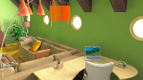 Office Area - Rustic - Office  - by stargurl90008
