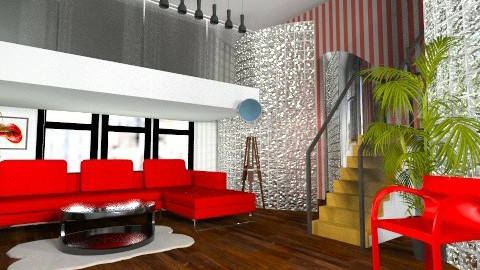 white stripes 3 - Living room - by Lety31