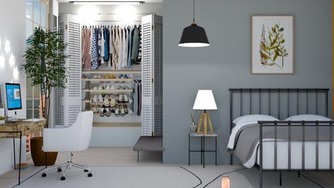 Bold grey - Bedroom  - by FANGIRLdesigner