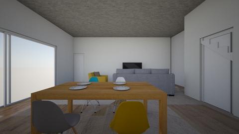 Projeto Casa dos Sonho1 - Living room  - by nmsalbuquerque