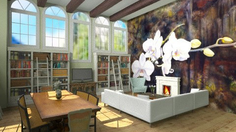 HomeSchoolRoom - Classic - Living room  - by BriaFaith