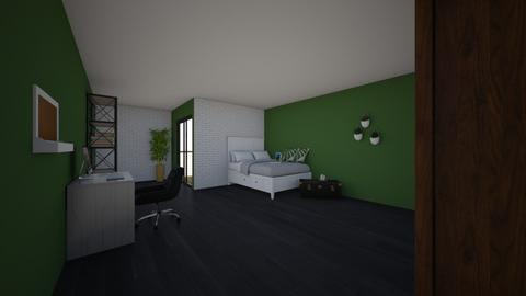 Green bedroom - Bedroom  - by Noa Jones