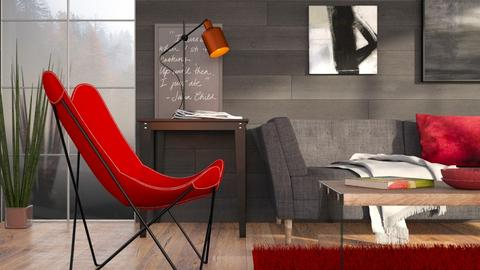 A chair and a glass - Modern - Living room  - by Sally Simpson