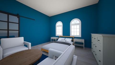 navy bedroom - Bedroom  - by kyle_sethre