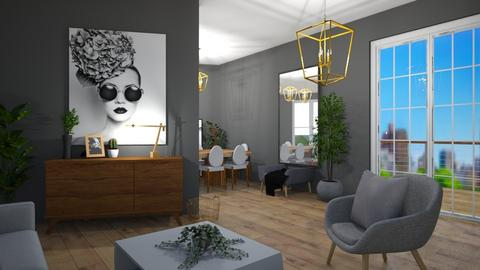Lshaped on angle - Modern - Living room  - by Thepanneledroom