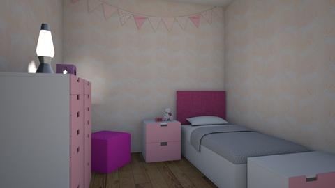 Pink bedroom - Kids room  - by Violin_designer