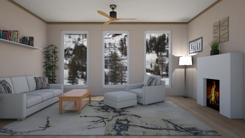 Minimalist LR - Living room  - by KarJef