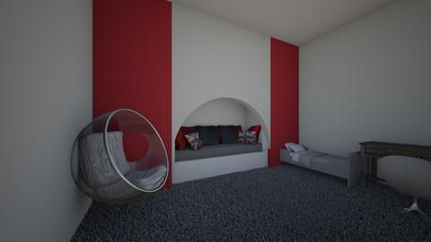 red bedroom - Bedroom  - by riordan simpson
