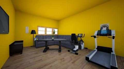 gym and living room - Modern - Living room - by Licorice123
