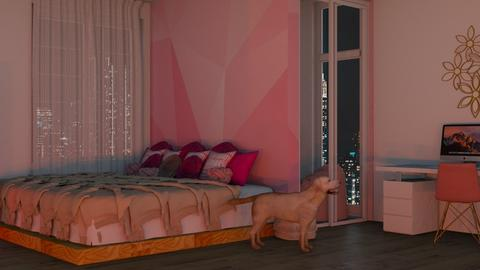 Pink - Feminine - Bedroom  - by Twice and Momo