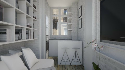 ParisTinyRoom001 - Modern - Living room  - by Ivana J