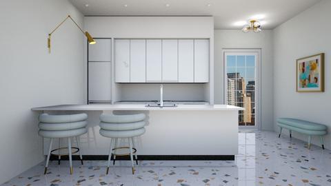 white kitchen design - Kitchen  - by erladisgudmunds