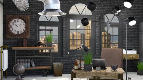 Old Factory Office - Retro - Office  - by Isaacarchitect