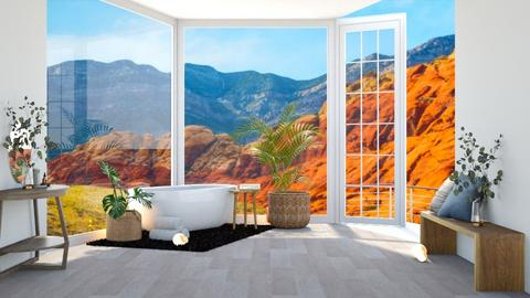 Bathing with a view - Modern - Bathroom  - by Meghan_and_Pheebs