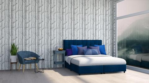 Minimal Blue room theme - Bedroom  - by MilksDaBunz