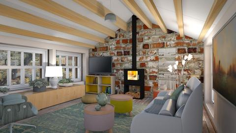 Attic lounge  - Eclectic - Living room  - by augustmoon