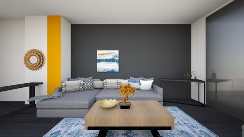livingroom greysectional7 - Living room  - by lilsrox05