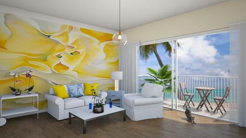 beach condo living room - by fippydude