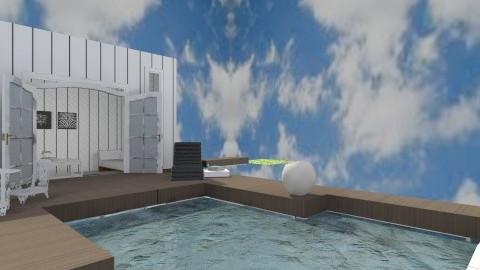 Plunge pool walled garden - Modern - Garden  - by georgieexo