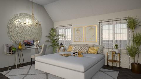 Teen bedroom - Glamour - Bedroom - by sara1010
