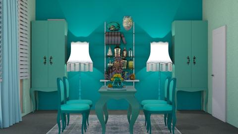 turquoise dining room - by nat mi