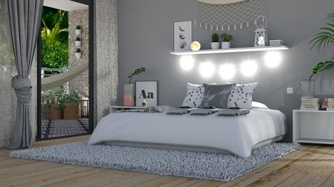 Grey Bedroom Remix - Bedroom  - by KittyKat28
