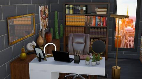 maroon - Modern - Office  - by RimaNina