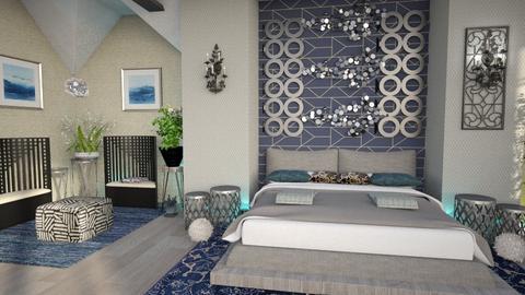 fun ceiling bedroom - Bedroom  - by Moonpearl