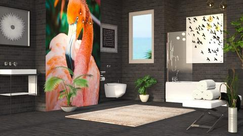 Flamingo - Eclectic - Bathroom  - by millerfam