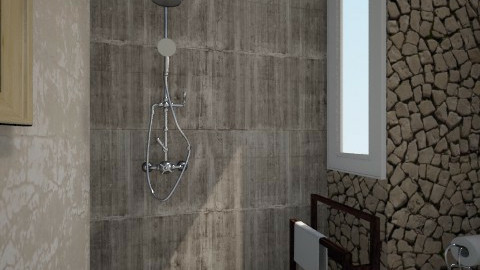 new bath - Rustic - Bathroom  - by vasilikikoukli
