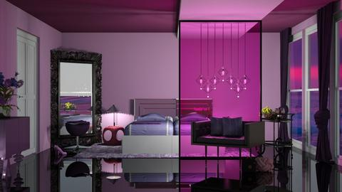 pink purple bed - by nat mi