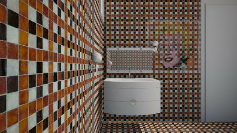 orange - Classic - Bathroom  - by kincso12