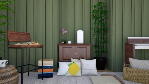 green - Living room  - by Alexa01