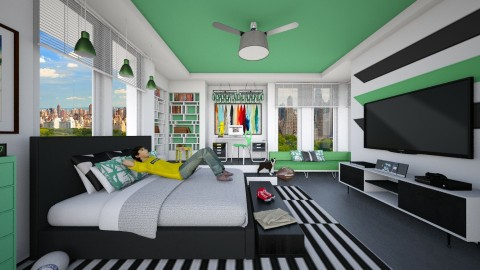 Panorama_Teen Dream - Bedroom - by crosette