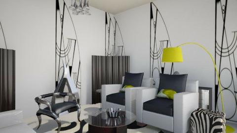 B&W - Classic - Living room  - by FRANKHAM