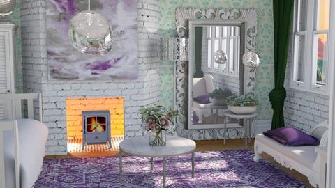Winter L and T - Feminine - Living room  - by augustmoon