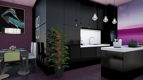 purple kitchen - Modern - Kitchen  - by zayneb_17