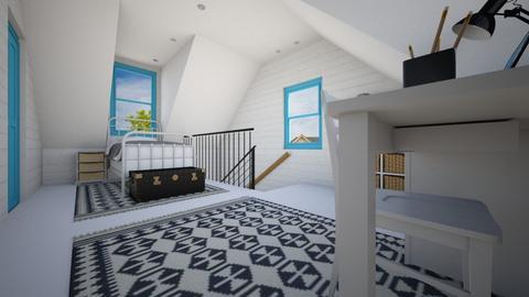 Farmhouse Loft - Bedroom  - by SammyJPili