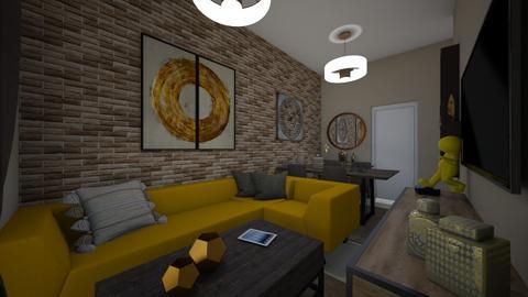 evelinas home - Living room - by Vasiliki Stagkidou