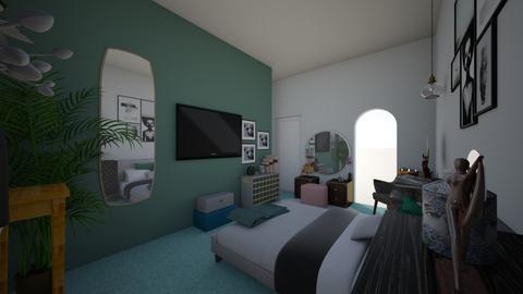 Bedroom corner view - Bedroom  - by Renekey