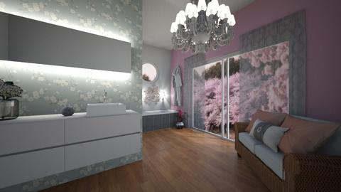 Cherry Blossom Bathroom - Bathroom  - by Horse_Lover_Mel