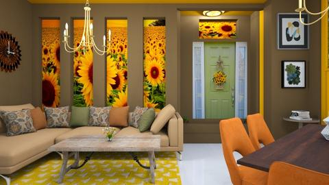 sunflower  - Modern - Living room  - by zayneb_17