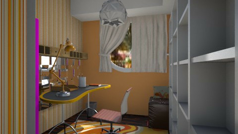 Nakagi Capsule Room 2 o - Modern - Office  - by Evangeline_The_Unicorn